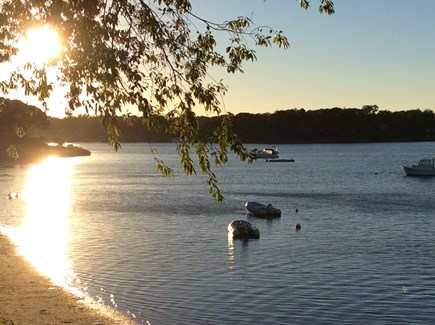 West Dennis Cape Cod vacation rental - Spectacular sunsets on the cove