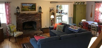 Eastham Cape Cod vacation rental - Living room/dining room view from front door