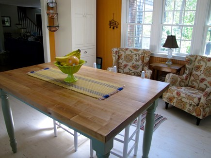 Eastham Cape Cod vacation rental - Kitchen butcher block island