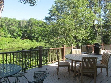 Orleans Cape Cod vacation rental - Outdoor seating and grill overlooking a peaceful pond
