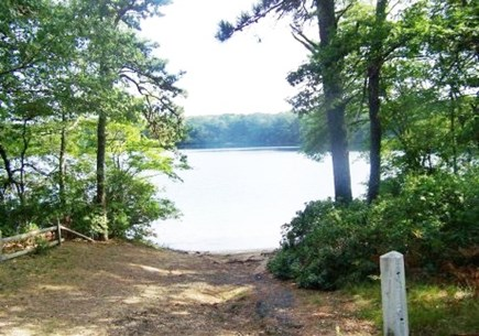 Dennis Cape Cod vacation rental - Walk to small sandy beach on Flax Pond, just 2 blocks away!