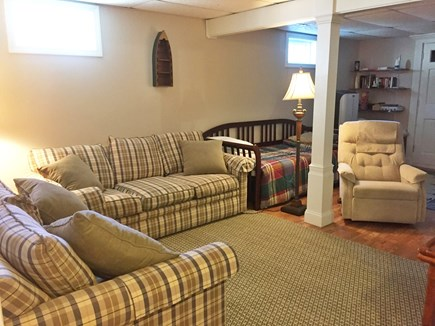 Dennis Cape Cod vacation rental - Lower level family room with TV and game system