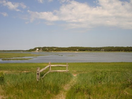 Wellfleet Cape Cod vacation rental - Path near home to tidal water area. Bring or rent a Kayak!
