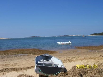 Wellfleet Cape Cod vacation rental - Bay Beach at end of Old Wharf area.