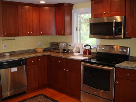 Wellfleet Cape Cod vacation rental - Beautiful Modern kitchen off of living area.