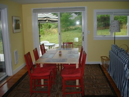 Wellfleet Cape Cod vacation rental - Dining inside.