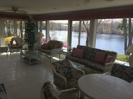 Falmouth Cape Cod vacation rental - Sun room with view of Jones Pond