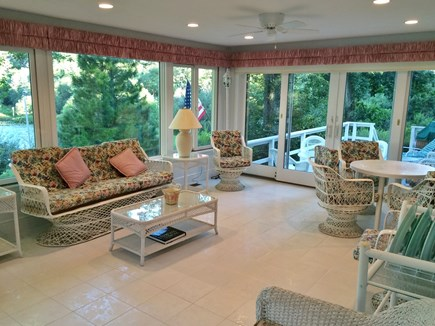 Falmouth Cape Cod vacation rental - Enclosed sunroom leading to the large deck
