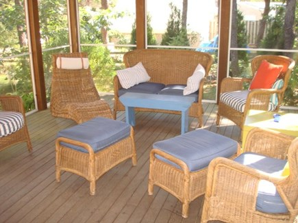 Wellfleet Cape Cod vacation rental - High ceiling screened porch off dining area.
