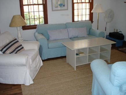 Wellfleet Cape Cod vacation rental - Living room open to dining area.