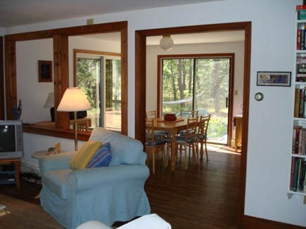Wellfleet Cape Cod vacation rental - Looking into dining from living room