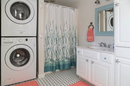 Chatham Cape Cod vacation rental - Bathroom with Shower and stackable washer/dryer