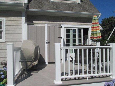 Dennis Cape Cod vacation rental - Deck with natural gas grill and outdoor shower