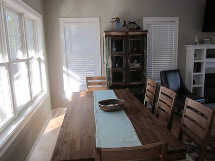 Dennis Cape Cod vacation rental - Dining table with bench and 5 chairs so room for 8