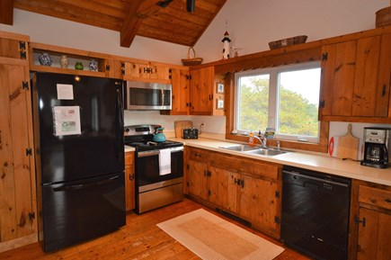 Eastham Cape Cod vacation rental - Large kitchen with beautiful wood cabinets