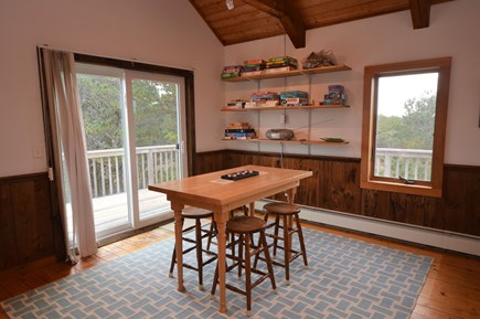 Eastham Cape Cod vacation rental - Dining area with views of nature and lots of light,