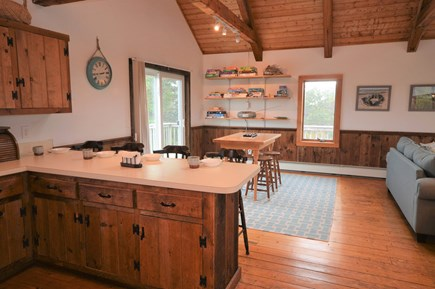 Eastham Cape Cod vacation rental - Breakfast area leading to the game area