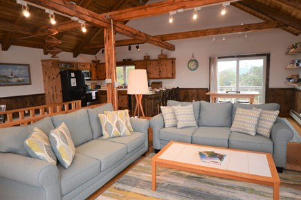 Eastham Cape Cod vacation rental - Cozy living room with lots of light