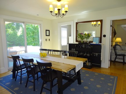 Orleans Cape Cod vacation rental - Dining room: 6-8 chairs, two seater bench & high chair