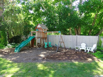 Orleans Cape Cod vacation rental - Swing set, playhouse, mini picnic, toddler swing available