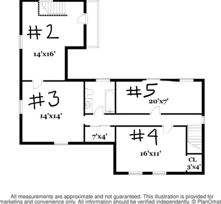 Orleans Cape Cod vacation rental - Upstairs floor layout