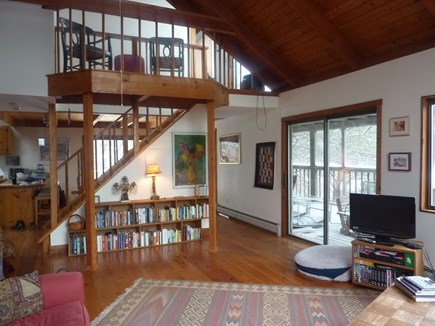 Truro Cape Cod vacation rental - Looking towards balcony and screened in porch on a snowy day