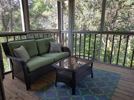 Truro Cape Cod vacation rental - Loveseat on screened in porch