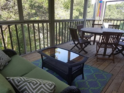 Truro Cape Cod vacation rental - Porch, with additional seating area on other side of table