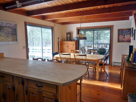 Truro Cape Cod vacation rental - Looking towards dining area from kitchen
