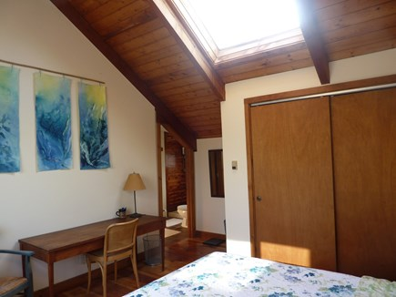 Truro Cape Cod vacation rental - Another view of master bedroom with skylight