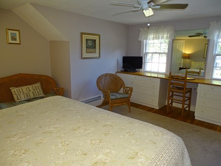 West Harwich Cape Cod vacation rental - Upstairs king master with TV