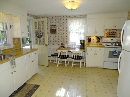 West Harwich Cape Cod vacation rental - Large fully equipped kitchen area, door to breezeway