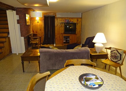 West Harwich Cape Cod vacation rental - Lower level rec room with games, TV, couch