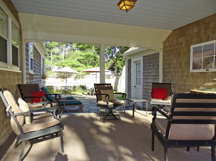 West Harwich Cape Cod vacation rental - Our favorite place to relax, the breezeway and patio
