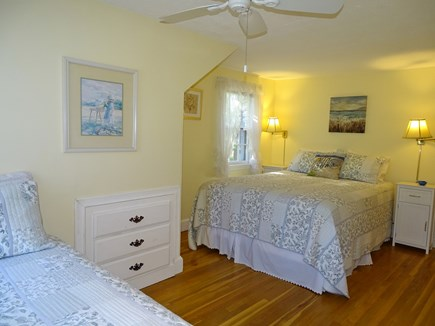 West Harwich Cape Cod vacation rental - Upstairs bedroom with 1 twin and queen bed, built ins