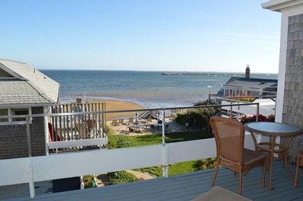 Provincetown Cape Cod vacation rental - Deck with beach front views and plush backyard