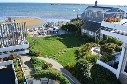 Provincetown Cape Cod vacation rental - Private deck - views of back yard and beach / harbor