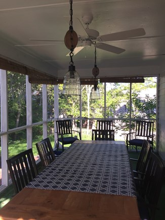 Falmouth Cape Cod vacation rental - Best room in the house! Screened porch w/farmer's table.