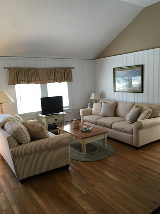 West Harwich Cape Cod vacation rental - Cathedral ceilings in the living area