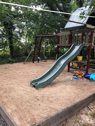 West Harwich Cape Cod vacation rental - The kids will love the swing set and sand box