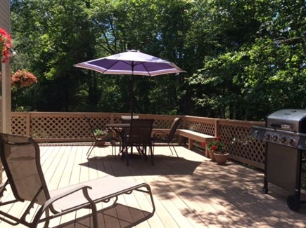 New Seabury, Mashpee New Seabury vacation rental - Huge, private deck with grill