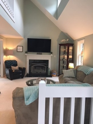 New Seabury, Mashpee New Seabury vacation rental - Living room with comfy sectional, recliner and 65 inch smart TV.