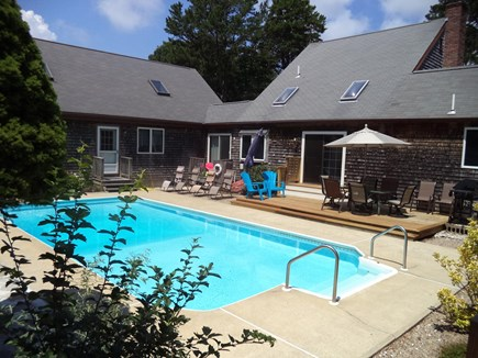 Dennis Cape Cod vacation rental - Back yard paradise w/ your own private saltwater swimming pool.