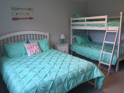 Chatham Cape Cod vacation rental - Second bedroom with queen bed and twin bunks.