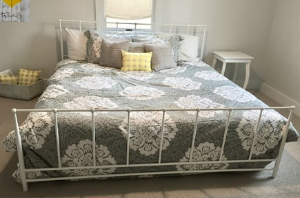 Chatham Cape Cod vacation rental - King bed set at the back of the house.
