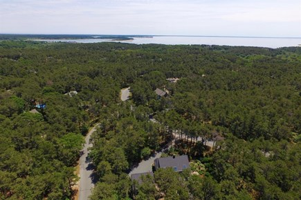 Wellfleet Cape Cod vacation rental - Aerial view of home and Cape Cod bay