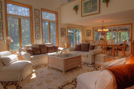 Wellfleet Cape Cod vacation rental - Living area with large windows and garden views