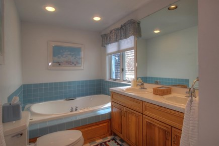 Wellfleet Cape Cod vacation rental - First floor master bath with jacuzzi and shower