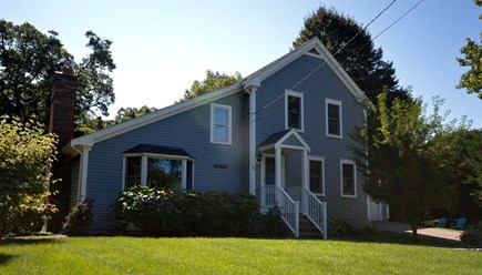Orleans Cape Cod vacation rental - Front of home w/ landscaped yard-Home at end of quiet Cul-de-sac