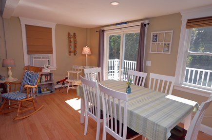 Orleans Cape Cod vacation rental - Open dining and living area with sliders to deck